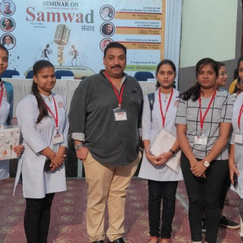 Students of Santaji at 'Samwad-A Seminar on Communication Skills' organized by MASK