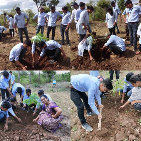 Tree plantation by Rotaract Club on 27/09/2019